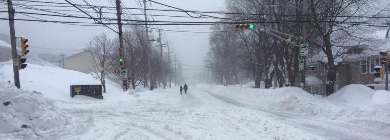Snowy street in Halifax