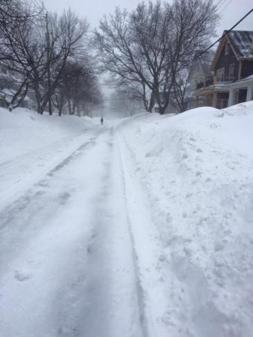 Halifax street covered in snow